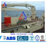 Grue marine fonctionnante de boum de porte-fusée de charge