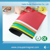Aimant adhésif de caoutchouc vinyle de PVC de papier intense de photo colorée Rolls/feuille