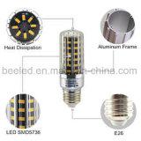 La luz E26 10W del maíz del LED calienta la lámpara de plata blanca del bulbo de la carrocería LED del color