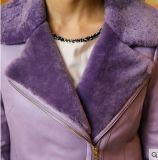 Stile di Short del cappotto di Shearling delle donne di modo