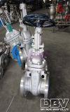 Valvola a saracinesca messa molle di mano della flangia industriale della rotella CF8