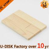 Émerillon/carte en bois tournante USB Pendrive pour le cadeau (YT-3132)