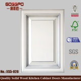 Porta de gabinete de madeira decorativa da cozinha da pintura branca (GSP5-028)