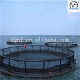 Cuadrado o jaula flotante redonda de la piscicultura de China