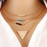 De leeswijzer Gelaagde Halsband van de Staaf van de Legering van de Nauwsluitende halsketting van de Tegenhanger voor Meisjes