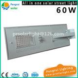 indicatore luminoso solare Integrated del sensore della via di 60W LED con telecomando per il giardino