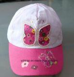 Gorra de béisbol caliente del niño de Fooltball con bordado e insignia de la impresión