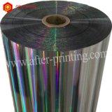 Película termal olográfica transparente de BOPP