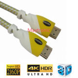 Mayor Full HD 2160p 3D 2.0 Soporte / 4k * 2k cable HDMI chapado en oro /