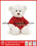 Jouet blanc d'ours de nounours de peluche pour le jour de Noël