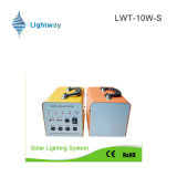 Sistema de energia solar cinza 50W para uso doméstico (bateria de lítio / bateria de ácido de chumbo)