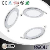 Saso IEC 18W 둥근 정연한 나무로 되는 백색 프레임 위원회 LED 빛