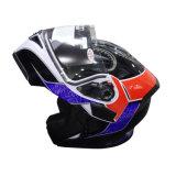 二重レンズフリップの太字のオートバイのヘルメット