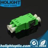 LC APC Dx Sm Adaptador verde sin brida