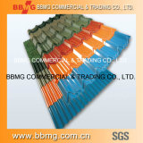 PPGI 색깔은 물결 모양 루핑 장 CGCC, Dx51d+Z에 의하여 주름을 잡은 지붕용 자재 PPGI 색깔에 의하여 입힌 강철 코일 입혔다