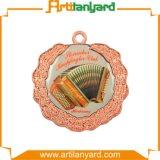 Personalizzato placcando la medaglia di colore con il nastro