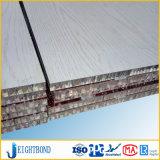 panneau en aluminium de construction de nid d'abeilles d'enduit en bois blanc de 15mm Mateirals