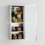 Обслуживайте кухонный шкаф шкафа хранения кухни мебели нержавеющей стали (7043)