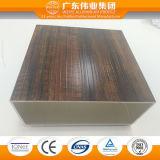 Constructeur professionnel du matériau de construction, profil en aluminium avec les graines en bois