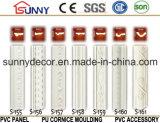 Découpage de la corniche de moulage de Polyrethane pour le modèle décoratif intérieur