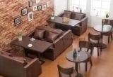 Un nuevo sofá más barato del restaurante del cuero del sofá del café del asiento del sofá del estilo 2016 (UL-LS077)