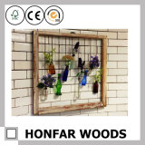 Frame de madeira da decoração da parede para o suporte chave ou o suporte da decoração