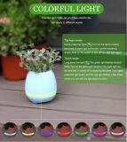 Crisol de flor elegante de la nueva de la llegada del ABS maceta elegante LED de la música con el altavoz de Bluetooth y la lámpara del LED