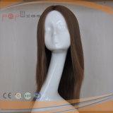 極度の長いブラジルの人間の毛髪純粋な#8カラーかつら
