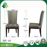 Presidenza di cuoio di stile semplice moderno per il salotto in betulla (ZSC-10)