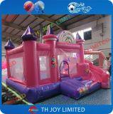 Castelo cor-de-rosa do salto/casa de salto para o partido