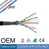 Câble LAN Imperméable à l'eau de câble de réseau des prix SFTP CAT6 de Sipu Factroy