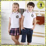 Fornitori primari all'ingrosso su ordinazione 100% di polo dell'uniforme scolastico di estate del cotone