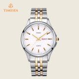 Cadeau analogique 72368 de montre-bracelet de montre de quartz d'étalage en acier d'hommes