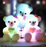 Juguetes luminosos calientes de la felpa del oso del peluche de la venta LED