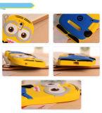 Modell-Silikon-materielles schändliches der Karikatur-3D ich gelber Günstling-Deckel-netter Telefon-Kasten für höchste Vollkommenheit J5