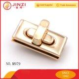 Manera de Jinzi bloqueo determinado de la torcedura del metal del bolso de dos porciones