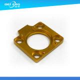 Maquinação de precisão Espaçador de alumínio anodizado de ouro para indústria de motocicletas