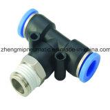 Té convenable de branchement d'air pneumatique pour le boyau de PU&PA (type métrique d'amorçage de Taille-r (pinte))