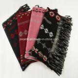 Sciarpa del Knitted della sciarpa del rayon dell'acrilico di 100% della signora Winter Warm Checked