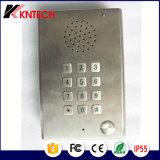 Teléfono resistente Knzd-29 del vándalo con el telclado numérico y la protección de tiempo realzada