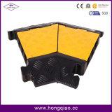 Suporte de cabo de borracha de cabo de cabo de 5 canais Stand de proteção de cabo 30tons Long Life Span