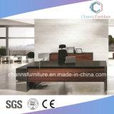 Tableau de bureau de bâti en métal de meubles de mélamine de couleur foncée de tailles importantes
