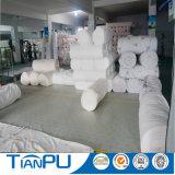 Tissu de tricotage circulaire de matelas de modèle blanc