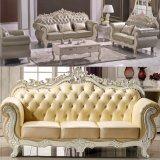 Sofà di cuoio reale/sofà domestico impostato (929L)