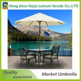 Runde hölzerne kundenspezifische wasserdichte bequeme einfache hohe Markt-Regenschirme