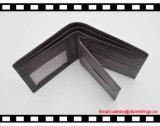 RFID que obstruem a carteira de couro macia do Mens feita por Guangdong Fábrica, dão boas-vindas ao logotipo personalizado