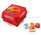 Kundenspezifischer umweltfreundlicher Hamburger-/Nahrungsmittelpapier-verpackenfaltender Kasten