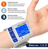 Monitor automático lido fácil da pressão sanguínea do pulso de Measupro Digital com deteção da frequência cardíaca, duas modalidades do usuário, recordação da memória e grande indicador Backlit do LCD