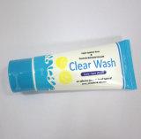 Tubo de empaquetado cosmético de la pantalla de seda para la crema de la mano con el casquillo de la tapa del tirón