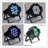 Gz Yuelight 세륨 RoHS DJ 단계 빛을%s 가진 최신 인기 상품 광도 54PCS*3W LED 동위 빛